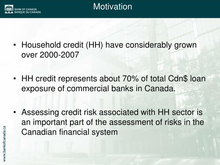 Household credit (HH) have considerably grown over 2000-2007