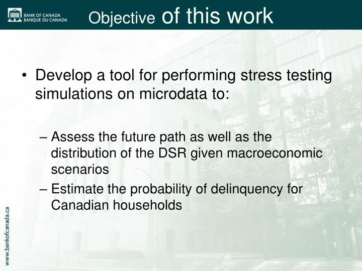 Develop a tool for performing stress testing simulations on microdata to: