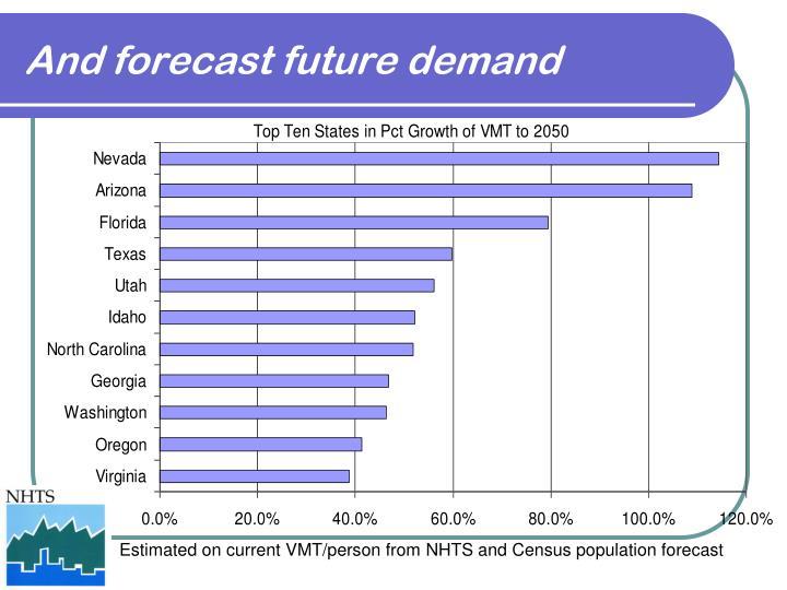 And forecast future demand