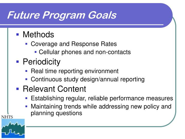 Future Program Goals
