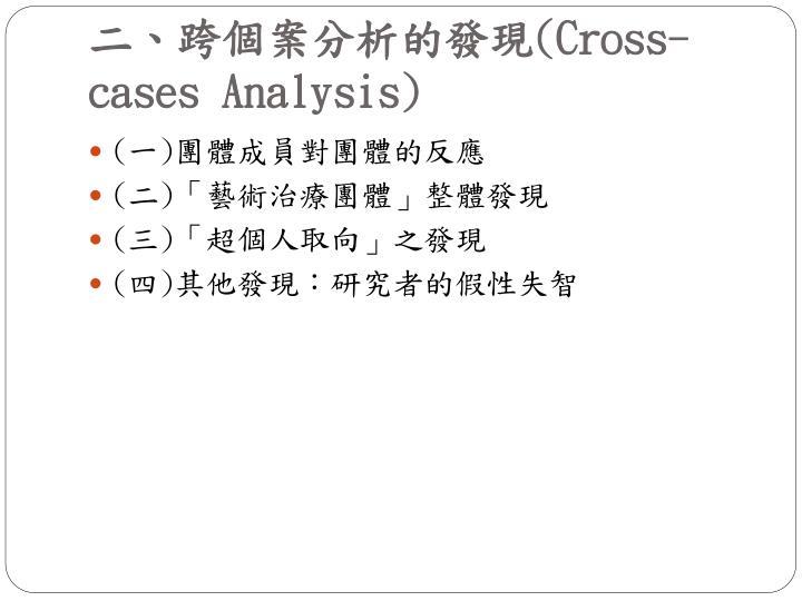 二、跨個案分析的發現