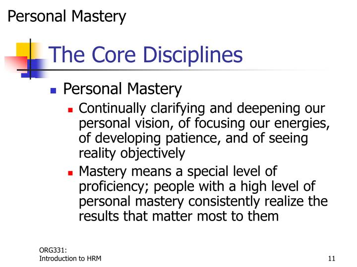 Personal Mastery