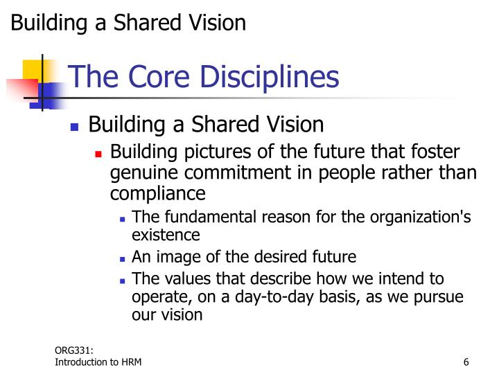Building a Shared Vision