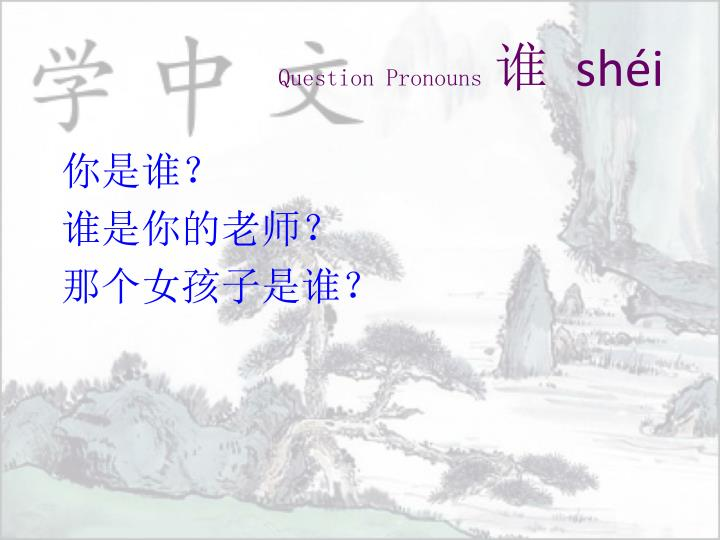 Question Pronouns