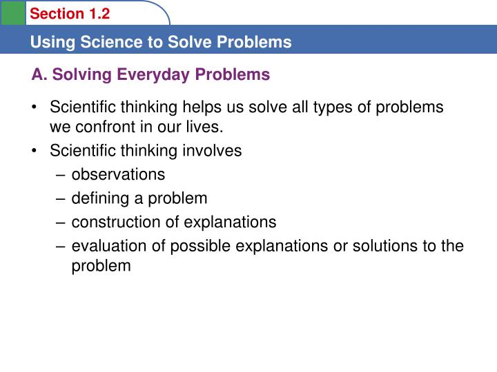 A solving everyday problems