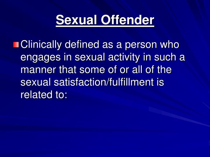 Sexual Offender