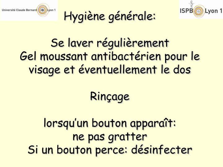 Hygiène générale: