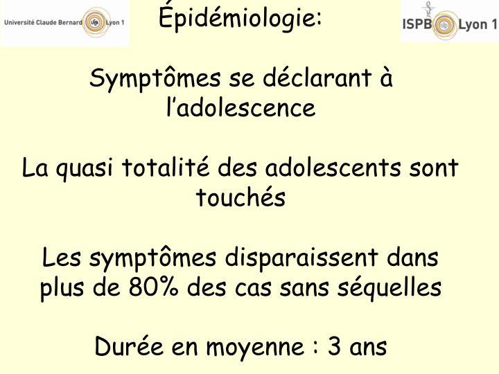 Épidémiologie: