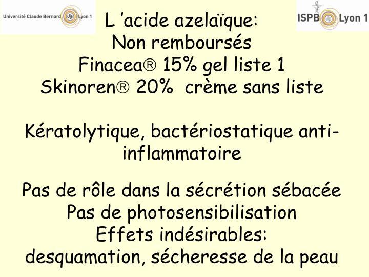 L'acide azelaïque: