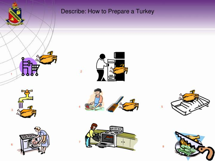 Describe: How to Prepare a Turkey