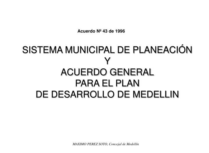 SISTEMA MUNICIPAL DE PLANEACIÓN