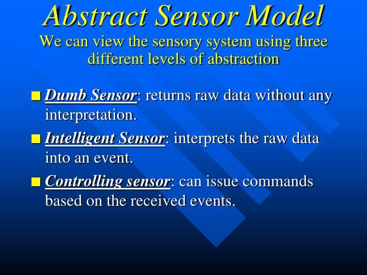 Abstract Sensor Model