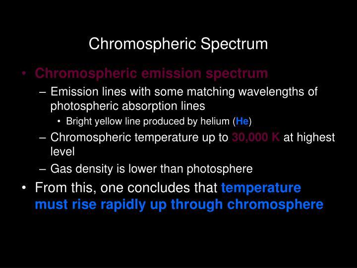 Chromospheric Spectrum