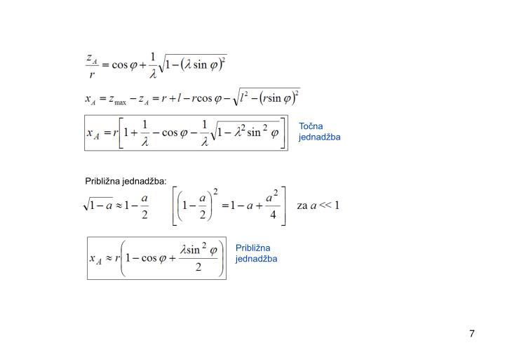 Točna jednadžba