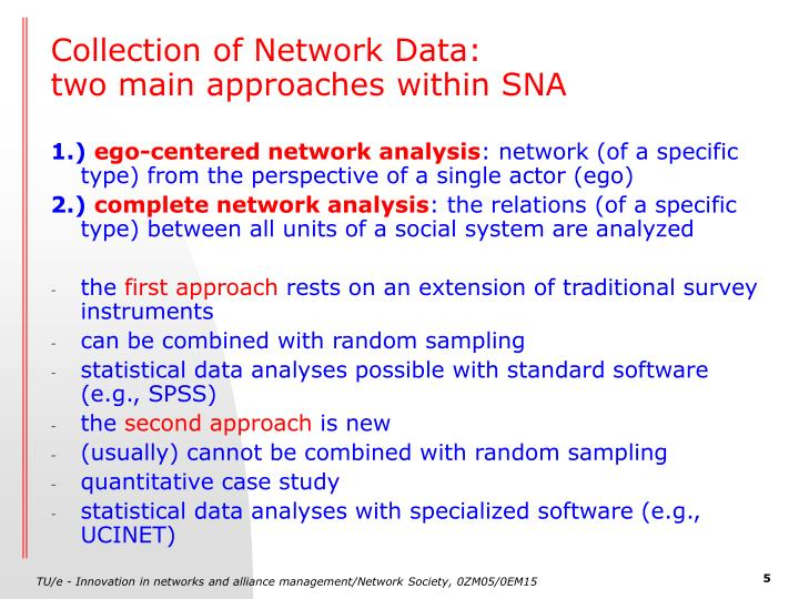 Collection of Network Data: