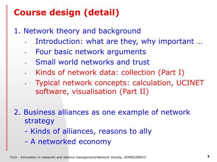 Course design (detail)