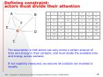 defining constraint actors must divide their attention