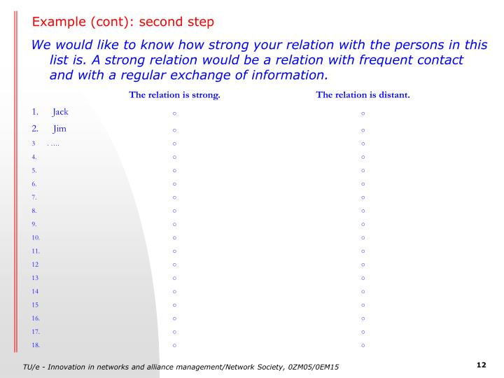 Example (cont): second step