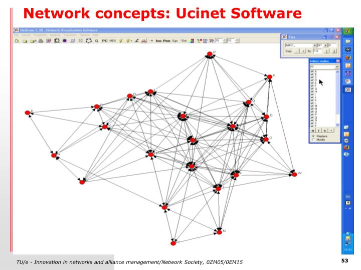 Network concepts: Ucinet Software