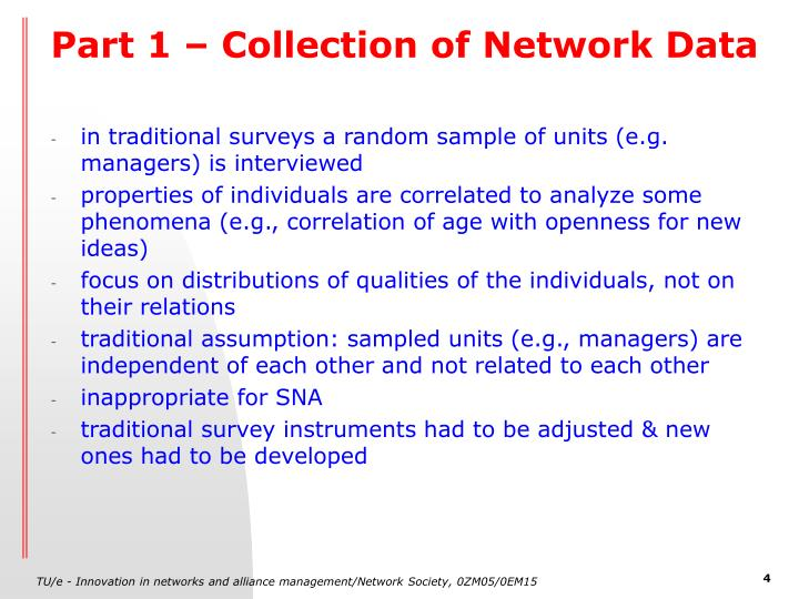 Part 1 – Collection of Network Data