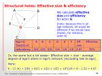 structural holes effective size efficiency