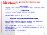 subgroups some general terminology you need to know