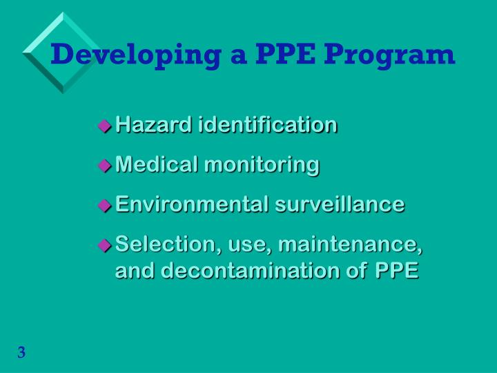 Developing a PPE Program
