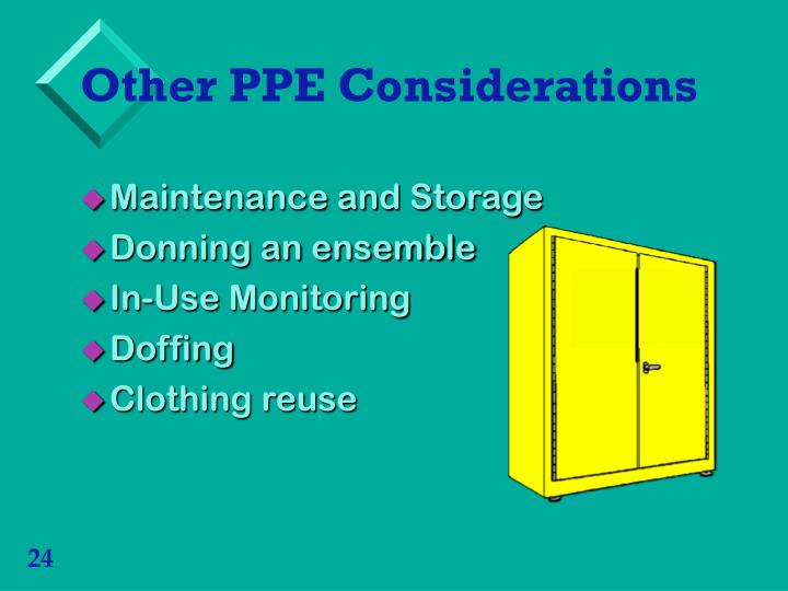 Other PPE Considerations