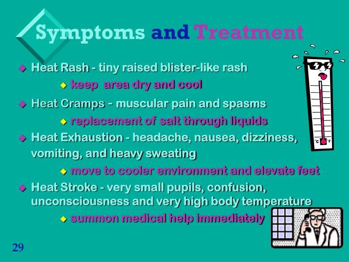 Heat Rash - tiny raised blister-like rash