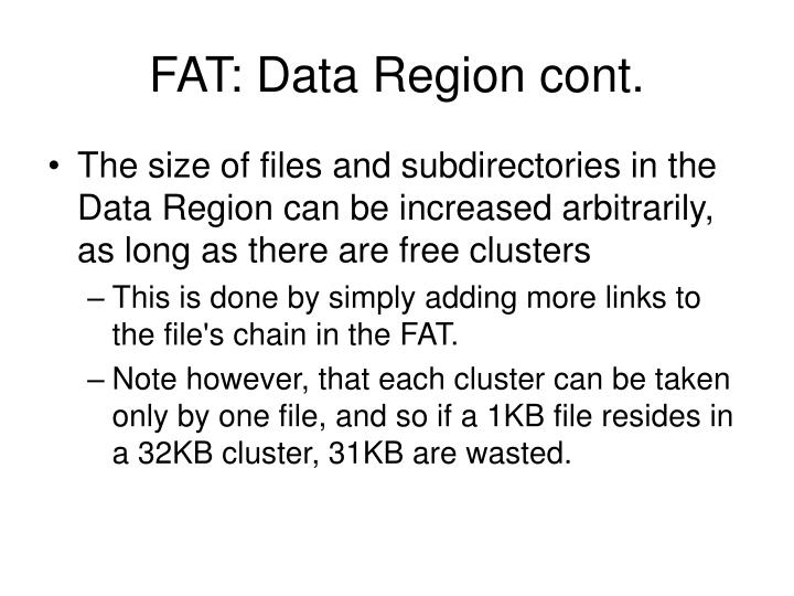 FAT: Data Region cont.