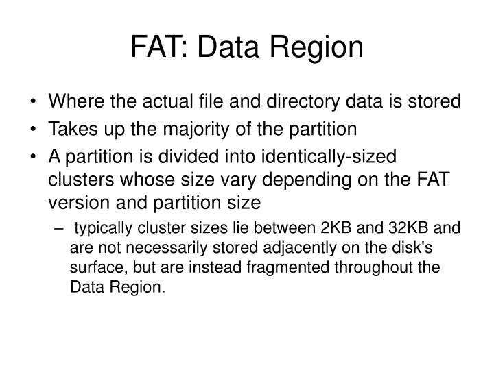 FAT: Data Region