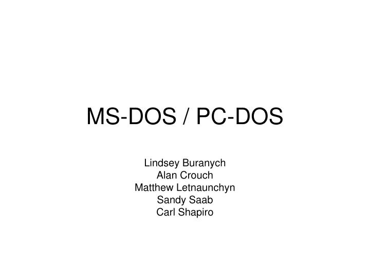 Ms dos pc dos