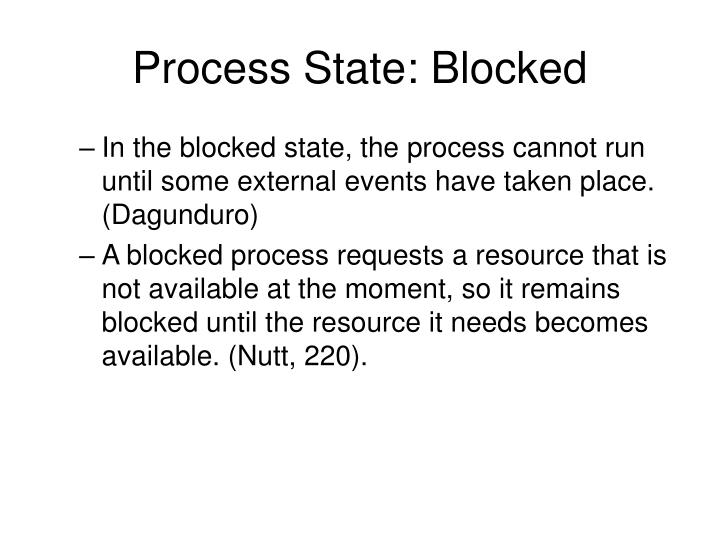 Process State: Blocked