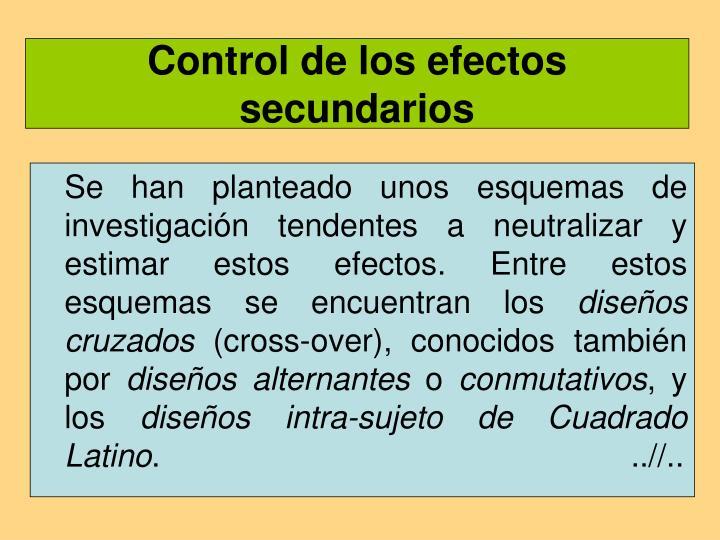 Control de los efectos secundarios