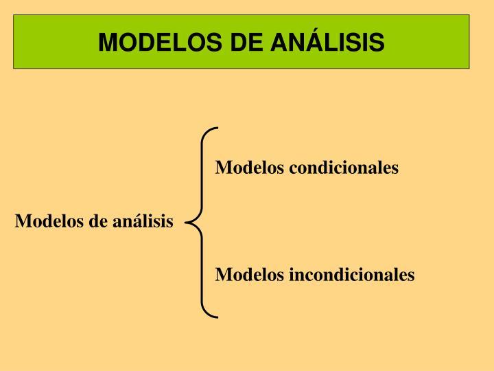 MODELOS DE ANÁLISIS