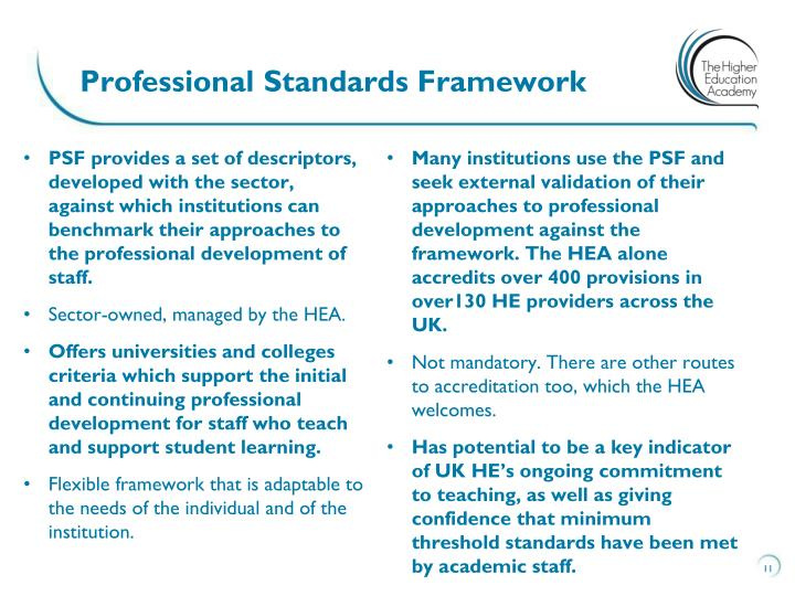 Professional Standards Framework