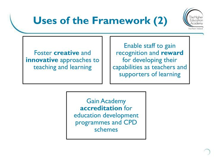 Uses of the Framework (2)