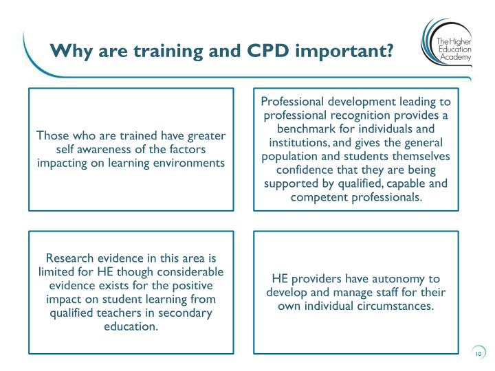 Why are training and CPD important?