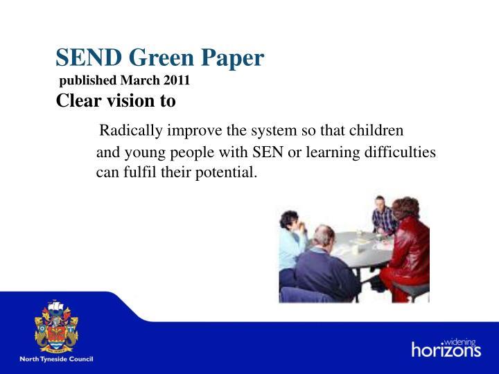 SEND Green Paper