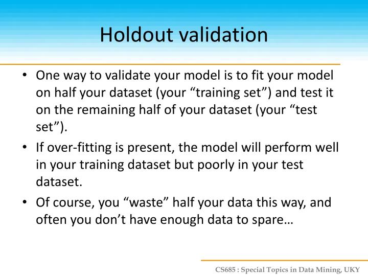 Holdout validation