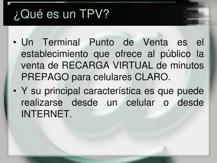 ¿Qué es un TPV?