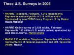 three u s surveys in 2005