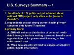 u s surveys summary 1
