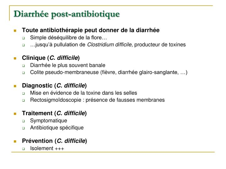 Diarrhée post-antibiotique