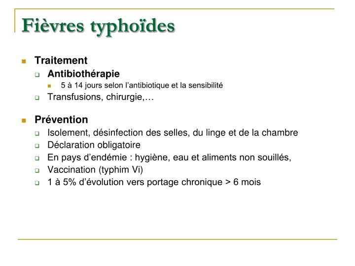 Fièvres typhoïdes