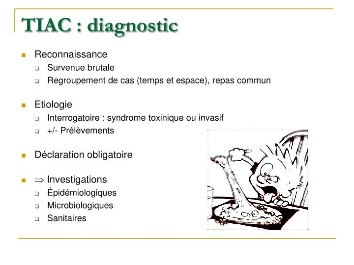 TIAC : diagnostic