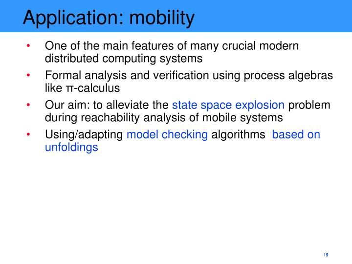 Application: mobility