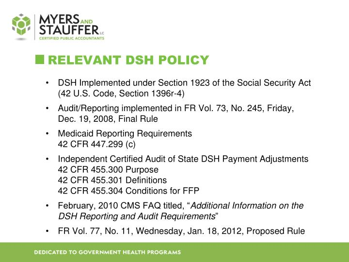 ReLevant DSH Policy
