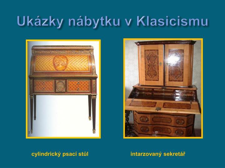 Ukázky nábytku v Klasicismu