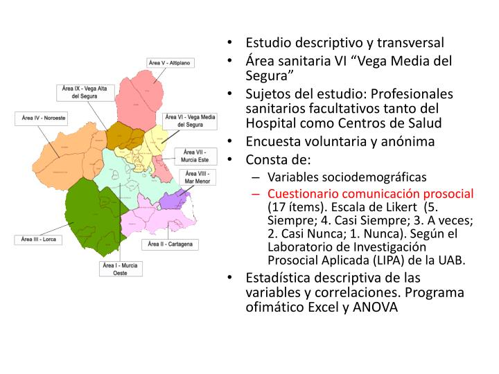 Estudio descriptivo y transversal